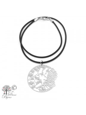Stainless steel pendant Fairy