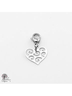 Mini accroche coeur en acier inox 11mm