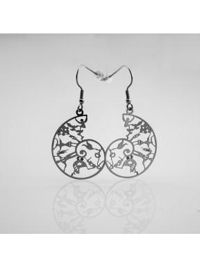 Ohrringe Lebens Spirale aus Edelstahl