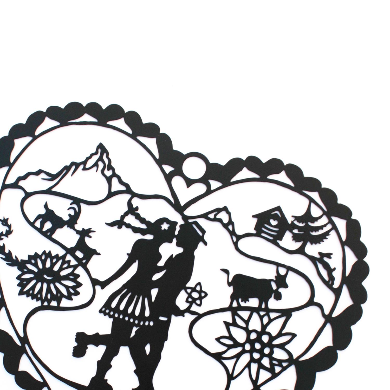 pendentif papier découpé création Suisse