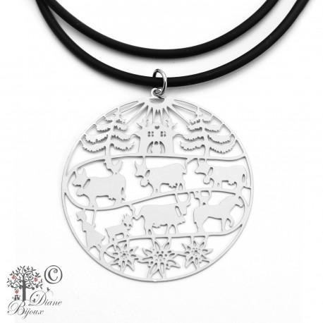 Stainless steel pendant Poya