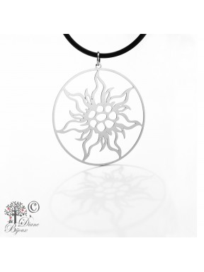 Stainless steel pendant Edelweiss
