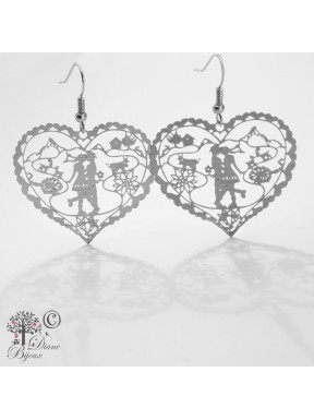 Earring Heidi in Love stainless steel