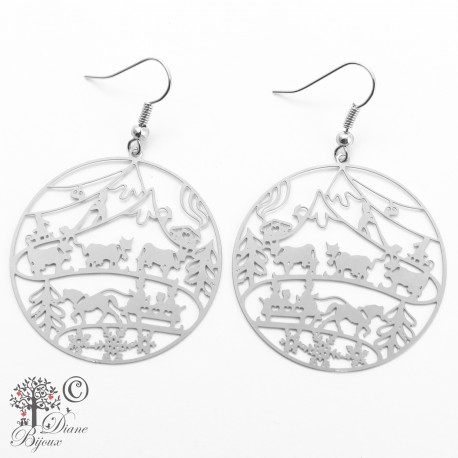 Earring Alpine descent stainless steel