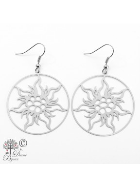 Earring Tree of life stainless steel