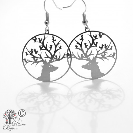 Earring Singing Deer stainless steel