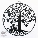 Decoration Tree of life stainless steel black coating 240mm