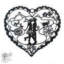 Decoration Heidi in Love stainless steel black coating 240mm