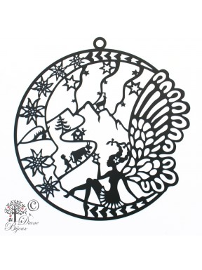 Decoration Fairy stainless steel black coating 240mm