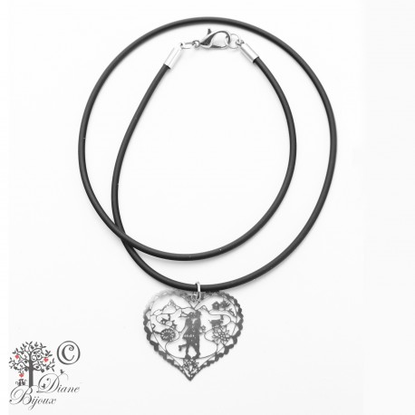 Stainless steel pendant Heidi in Love