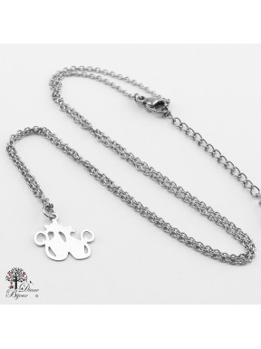 Stainless steel mini Pendant cat + Chain 11mm