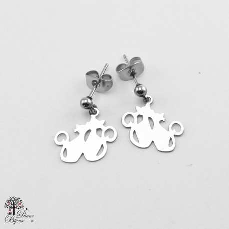 Mini stainless steel Earrings 11mm