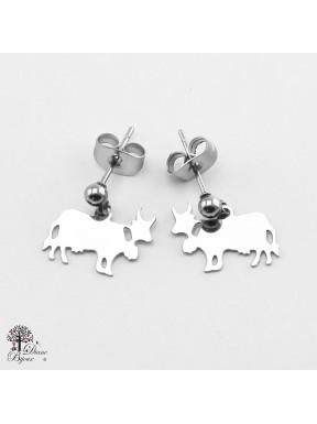 Mini boucles d'oreilles vache 11mm