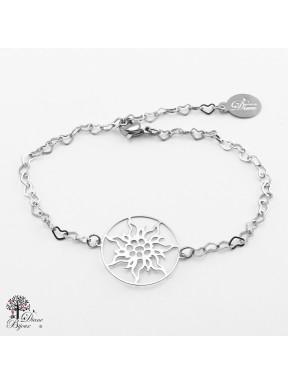 Bracelet Edelweiss en acier inox 21mm