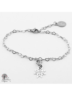 Stainless bracelet + mini pendant 11mm