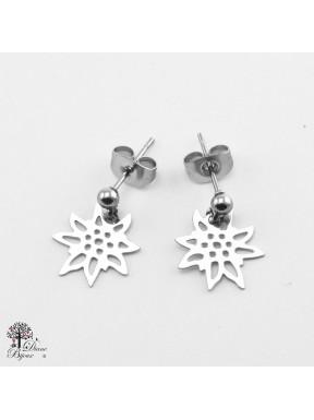 Mini boucles d'oreilles Edelweiss 11mm