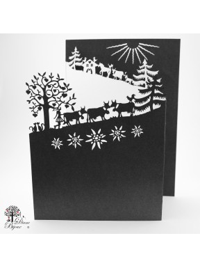 Gretting card alpine ascent 3 fold 13x18.5 cm