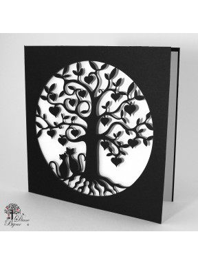 Gretting card tree of life 15x15 cm