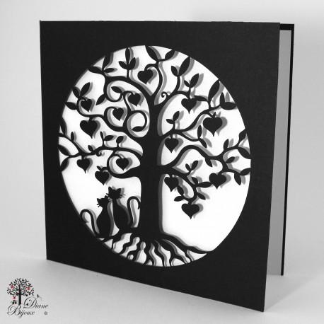 Glückswunschkarten Lebensbaum 15x15 cm
