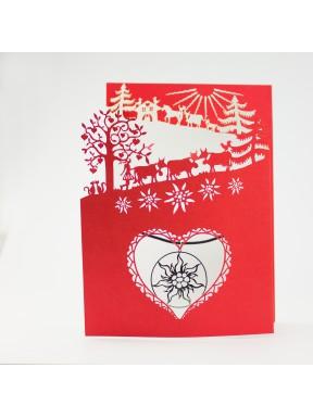 Carte Poya à 3 volets (r/b) avec pendentif Edelweiss