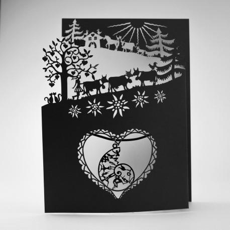 Gretting card alpine ascent 3 fold 13x18.5 cm