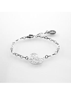 Bracelet Spirale de la Vie en acier inox 21mm