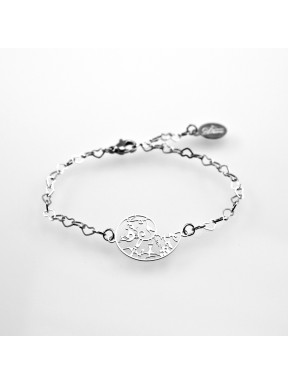 Stainless steel bracelet Tree of life 21mm