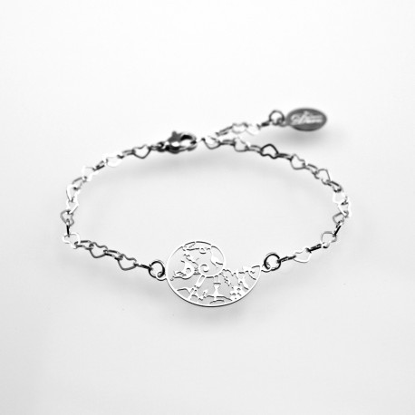 Stainless steel bracelet 21mm