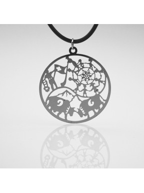 Stainless steel pendant Tree of life